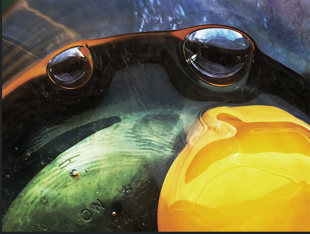 Egg in Glass Bowl