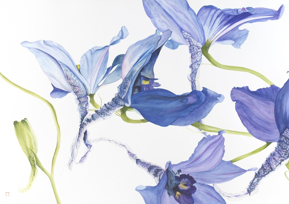 Daring Delphiniums or Diving for Joy, 2016