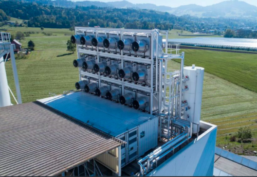 The Climeworks facility in Switzerland.  Source:   http://www.livescience.com