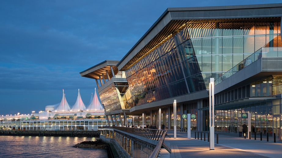 The Vancouver Convention Center is a remarkable work of sustainable and environmental engineering, and the world's first double   LEED® Platinum certified convention center  .   Source: Tourism Vancouver