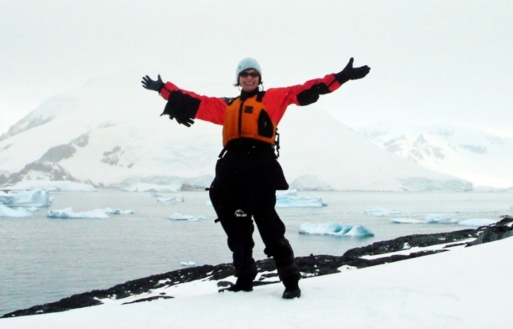 Kim Michele on Detaille Island, as a part of her epic journey to Antarctica.