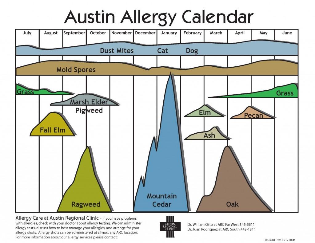 Austin Allergy Calender