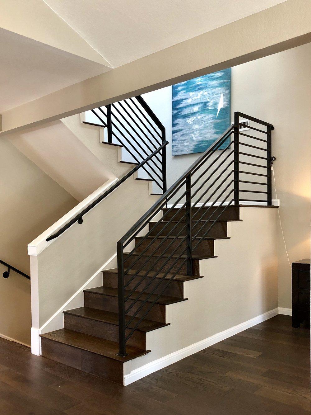 Metal Railing Stairwell