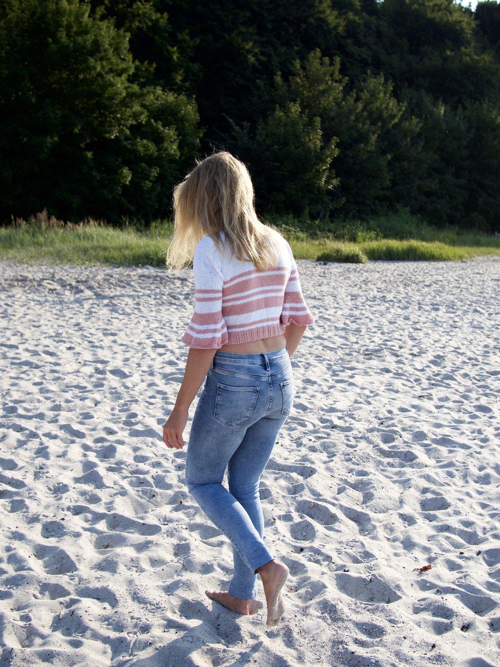 Pullover stricken aus dem Rebecca Magazin, Wolle ggh