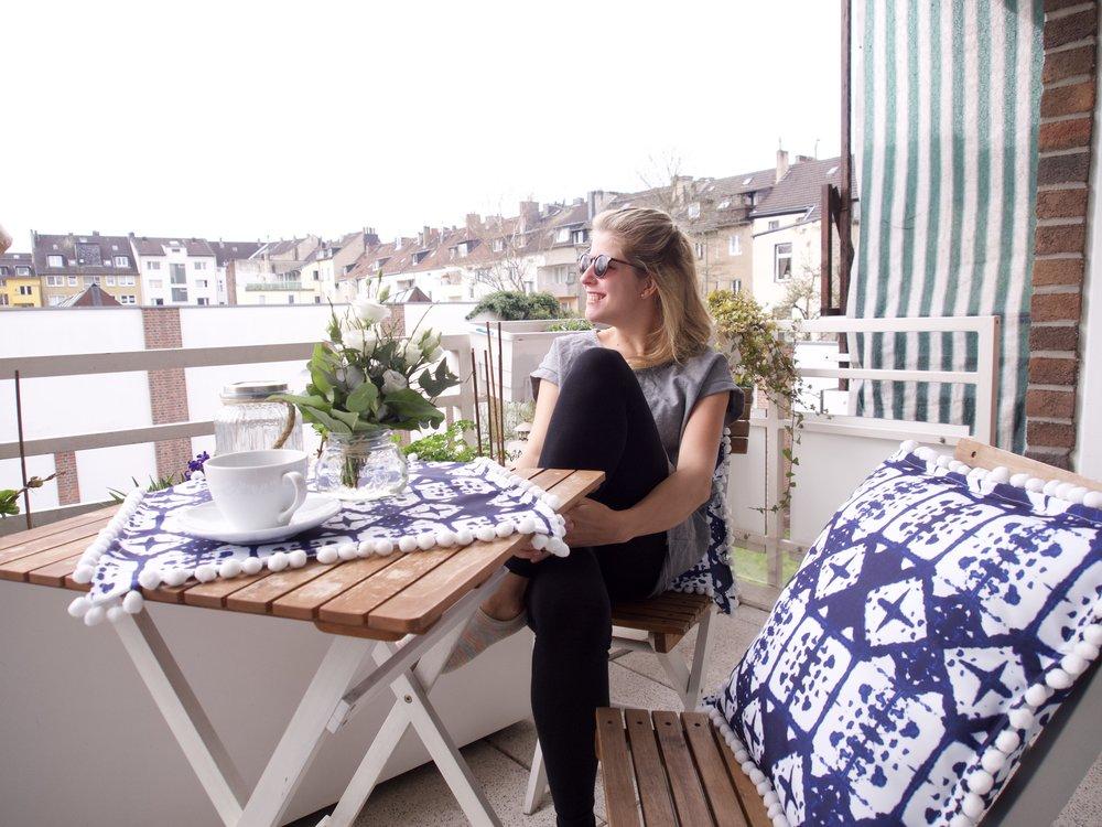 Frühlings- DIY Tischdecke und Kissen nähen