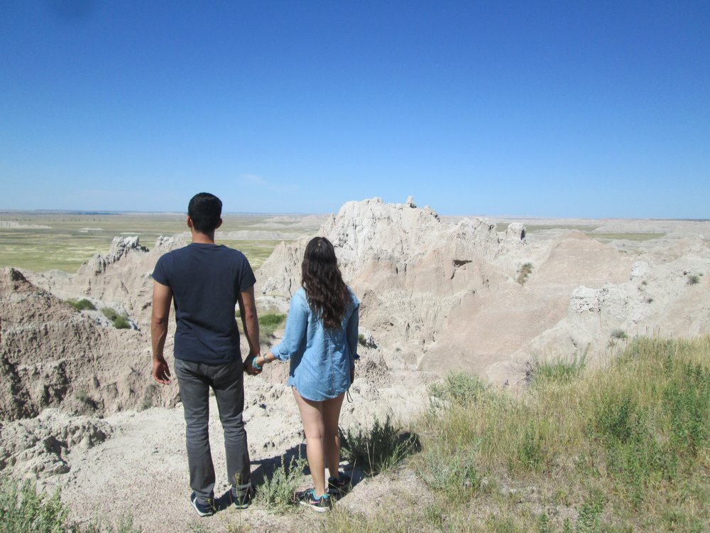 Looking out into the world at Badlands National Park, South Dakota