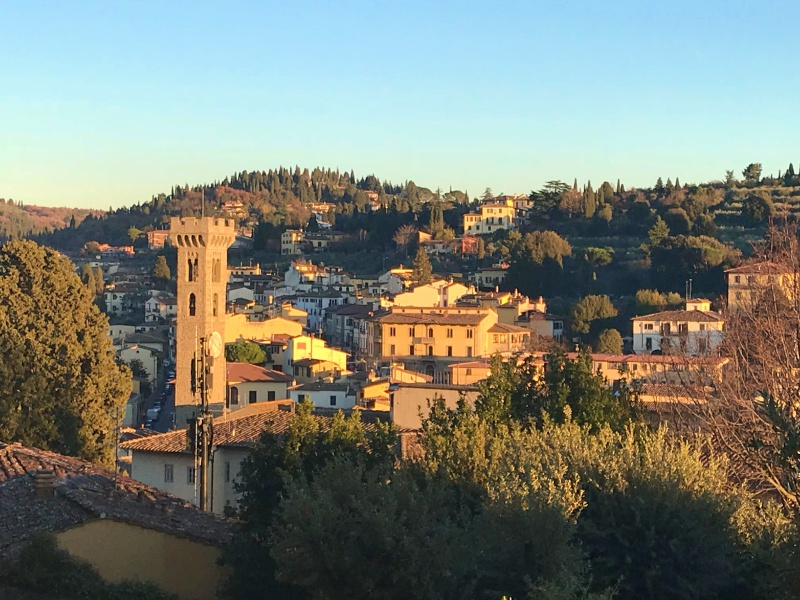 A view of Fiesole, the town my mother was born in and lived for the first few years of her life.