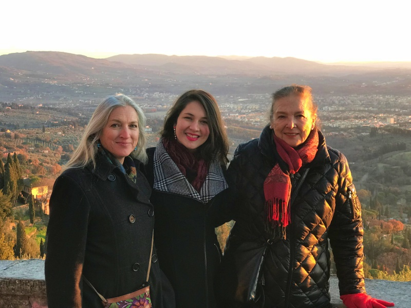 My mom, myself, and my Ima (grandmother) visiting Fiesole where my grandparents lived 46 years ago.