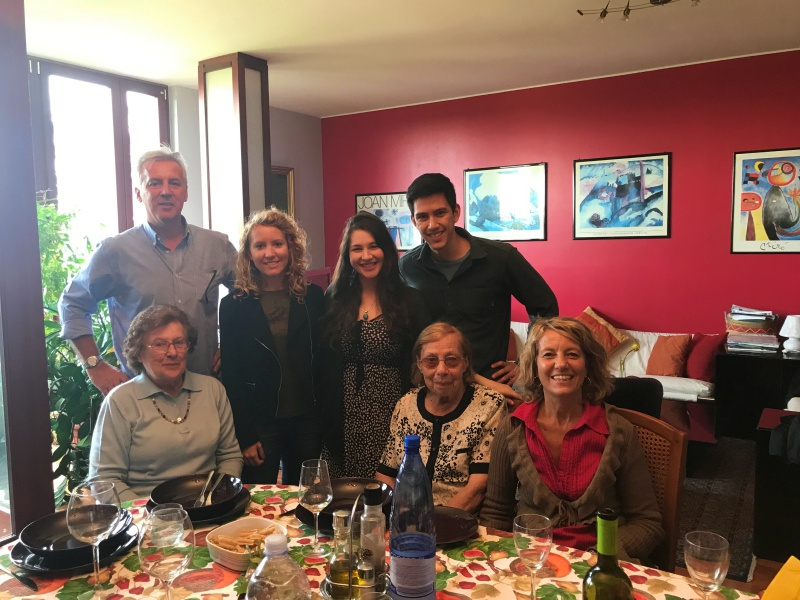 My AMAZING Italian host family including my two Nonna's (my host brother wasn't here). Christian and I got to visit them while living in Italy.