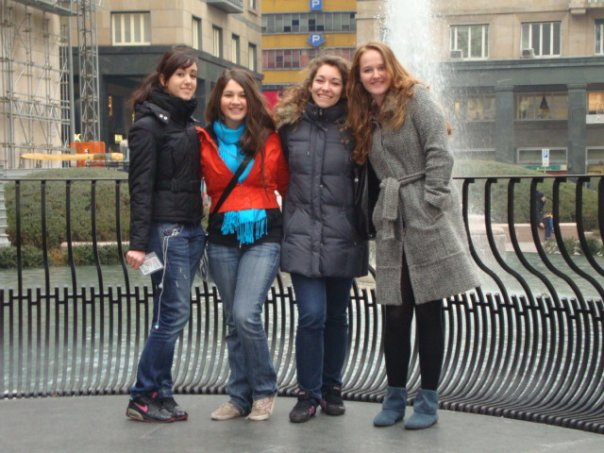 16 yo me with some friends I made while studying in Italy. Also proof of my orange members only jacket (see musing #3)