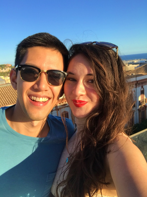 Christian and I in Cagliari. It's also where we got engaged, so of course I love it!