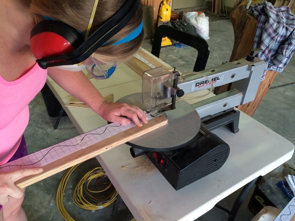 Cut out the pattern using a scroll saw or jig saw.