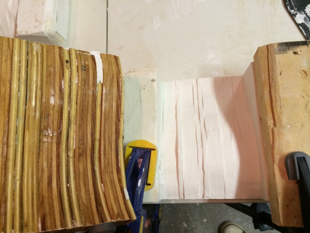 Our staggered wood strips were difficult to remove because plaster was getting in the spaces between strips.