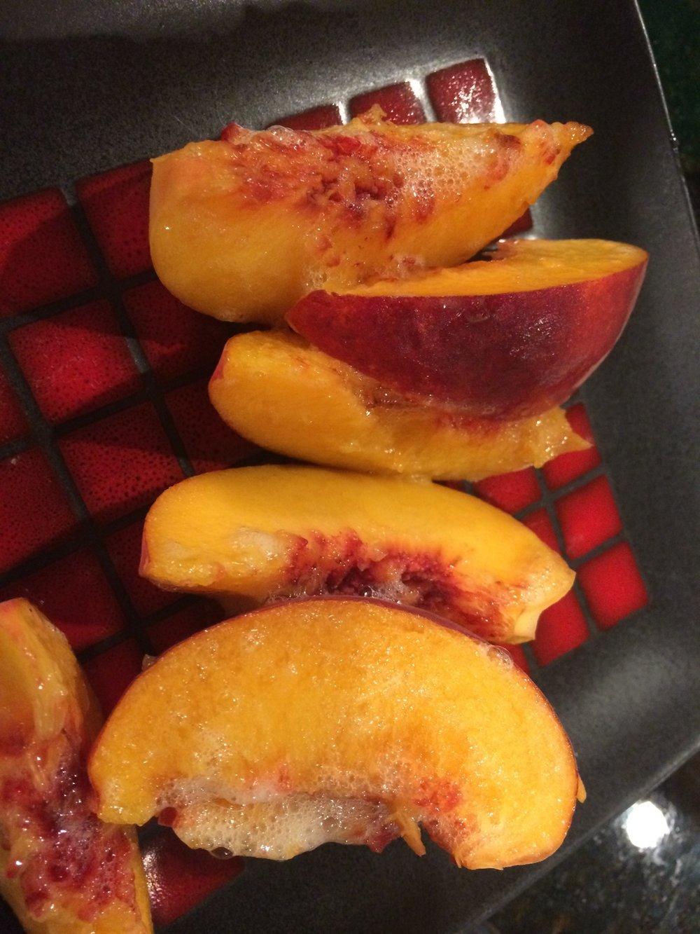 Fizzy peaches are especially good!