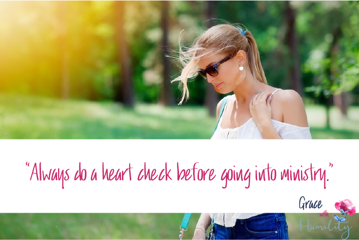 "Image courtesy of Pixabay. Edited by Grace with Humility. ""Always do a heart check before going into ministry."""