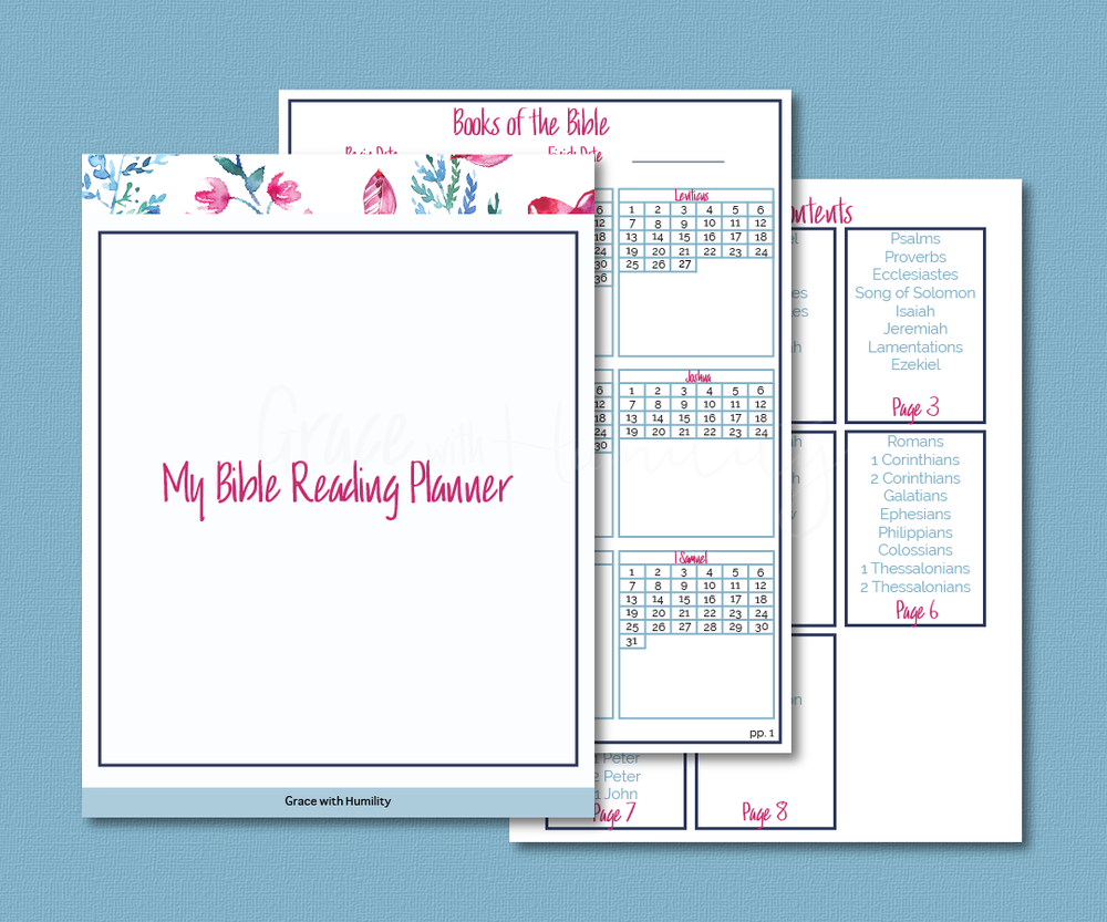 Bible Reading Planner Printable   Are you confused about which books of the bible you've read already? If so, then my Bible Reading Planner will help keep you organized and focused when setting out to read the bible in its entirety.   I created boxes for all the chapters of the bible so that you can mark them off as you finish each one.      *You will not receive a physical product.   ** Not for Resale    ****Free to download    File Specifications   *PDF   *US Letter size 8.5x11in  *Prints in high quality 300dpi (actual color may vary due to the calibration   of your screen)  What's included in this  Bible Study Planner Printable ?  (1) Cover Sheet (8) Books of the Bible chapter worksheets (1) Table of Contents (1) Notes sheet