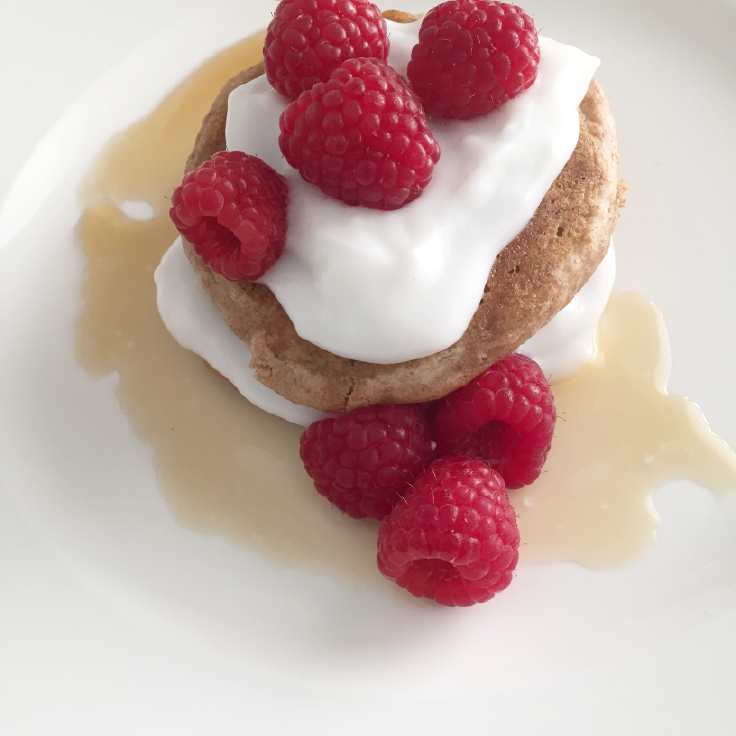 homemade Raspberry, yogurt cinnamon pancakes – www.gracewithhumility.com