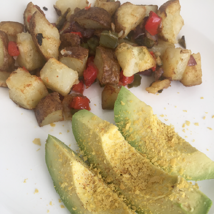 Ranchero potatoes and avocado – www.gracewithhumility.com