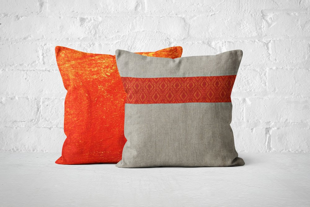 Orange Velvet & Ikat gift set.jpg