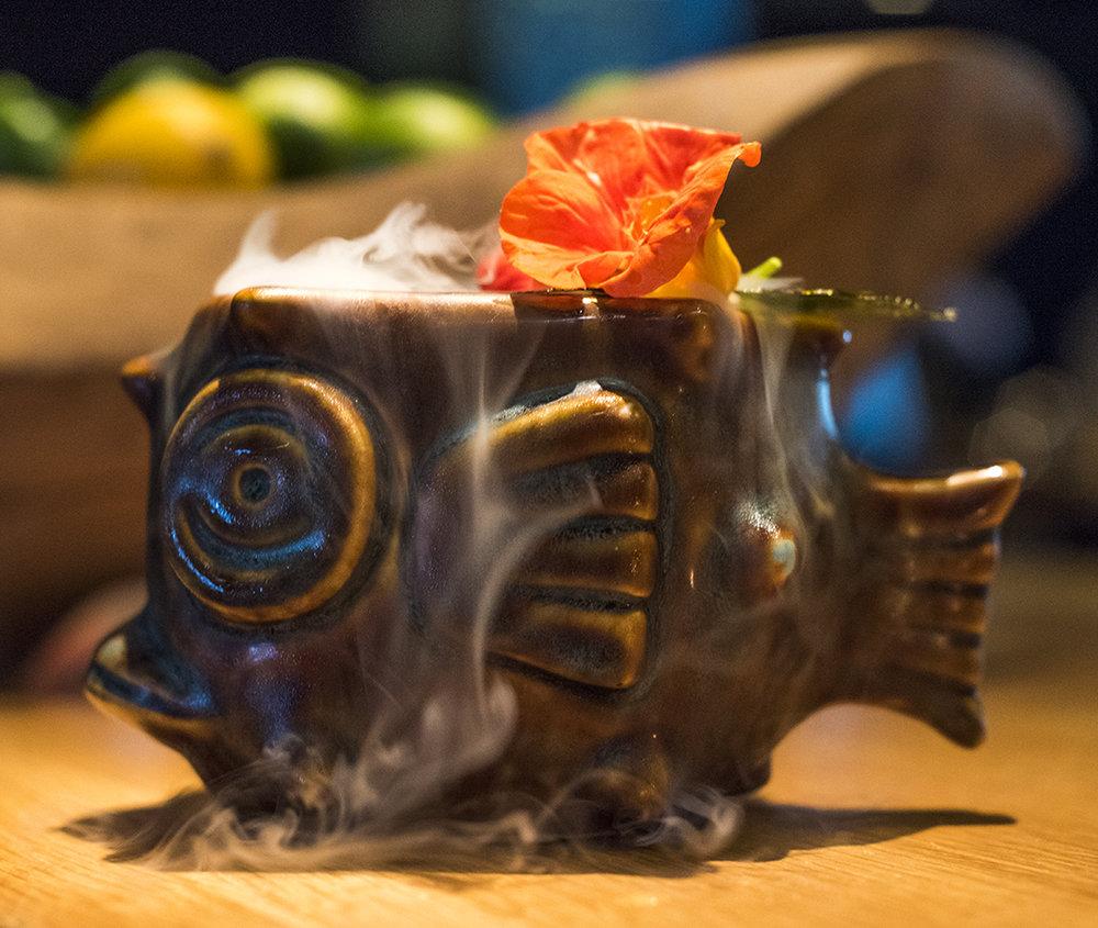 Creature From the La Jolla Lagoon (Finalist for 2016 Tiki Oasis Bartenders Battle)  Photo Cred: Joshua Kasumovic