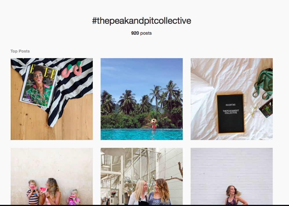 The Peak & Pit Collective Hashtag on Instagram