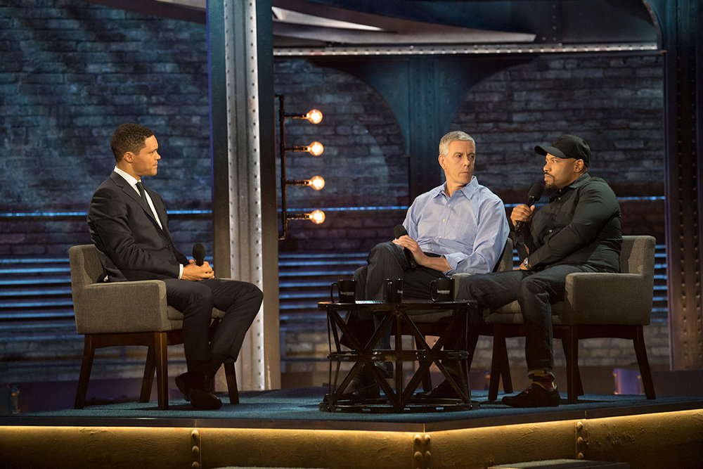 "Chicago CRED Joins Trevor Noah on The Daily Show On October 17, 2017, Managing Partner Arne Duncan and Community Change Leader Curtis Toler joined Trevor Noah on ""The Daily Show"" to talk about CRED's critical work. Watch at Comedy Central    Read more at Emerson Collective"