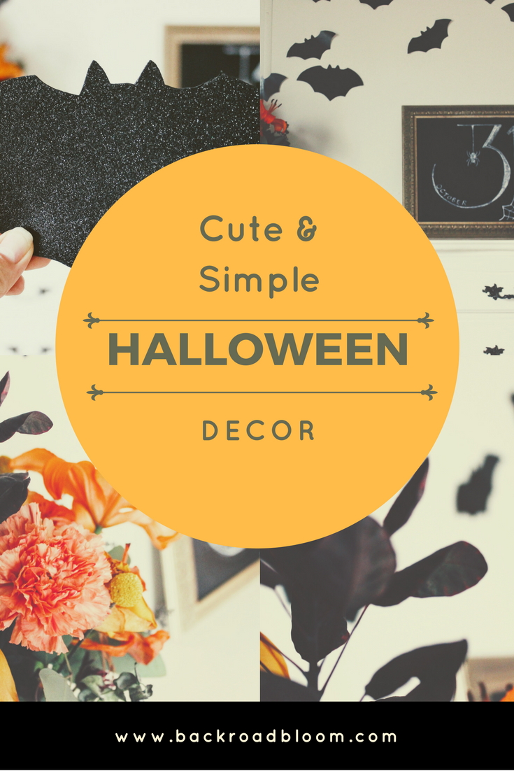 Cute & Simple Halloween Decor Pinterest Graphic