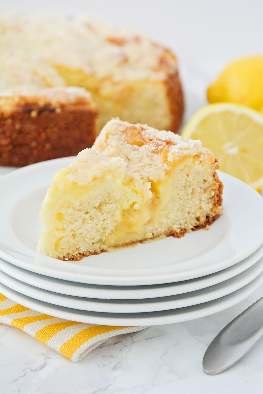 Lemon Cream Cheese Coffee Cake via The Baker Upstairs