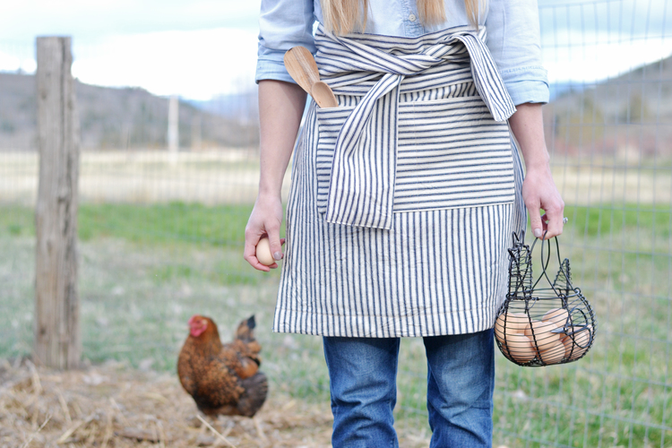 Boxwood Avenue - DIY French Striped Half Apron