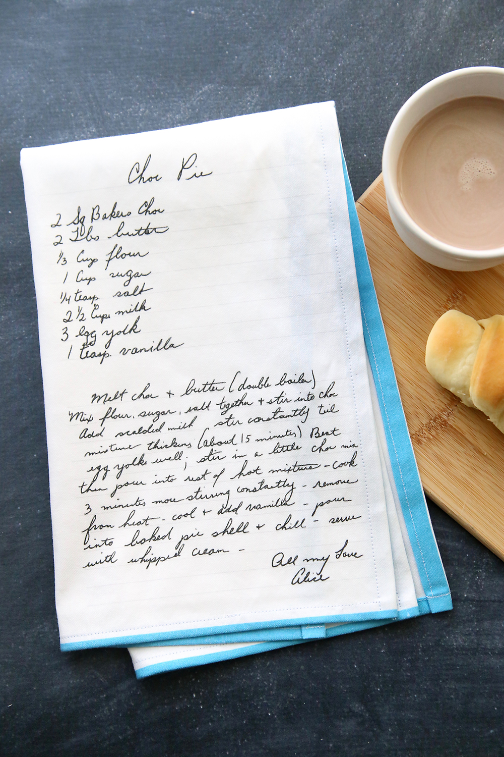 It's Always Autumn - Handwritten Recipe Tea Towels