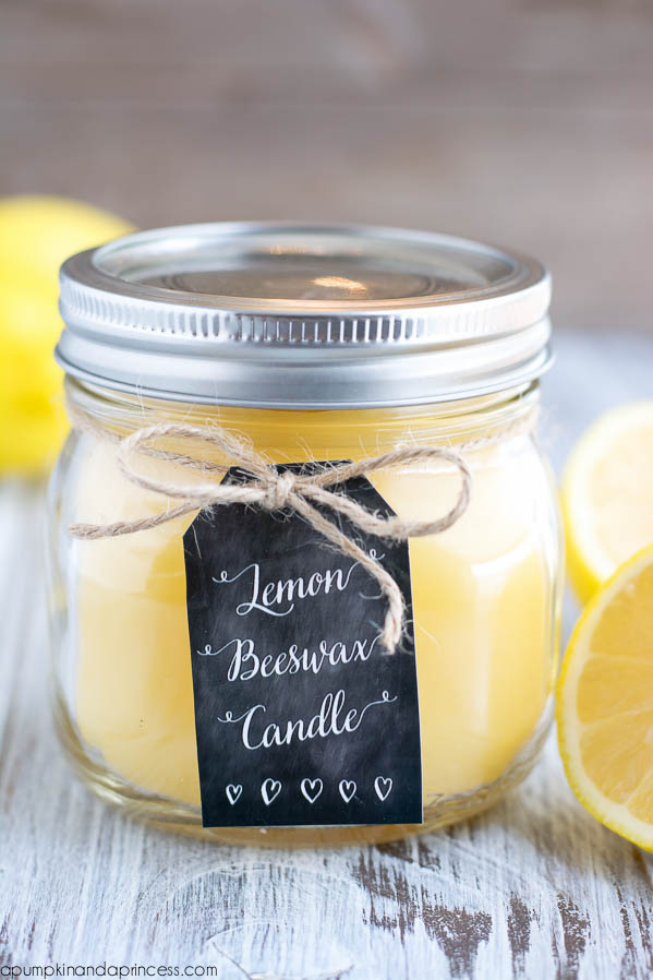 A Pumpking and a Princess - DIY Lemon Beeswax Candle