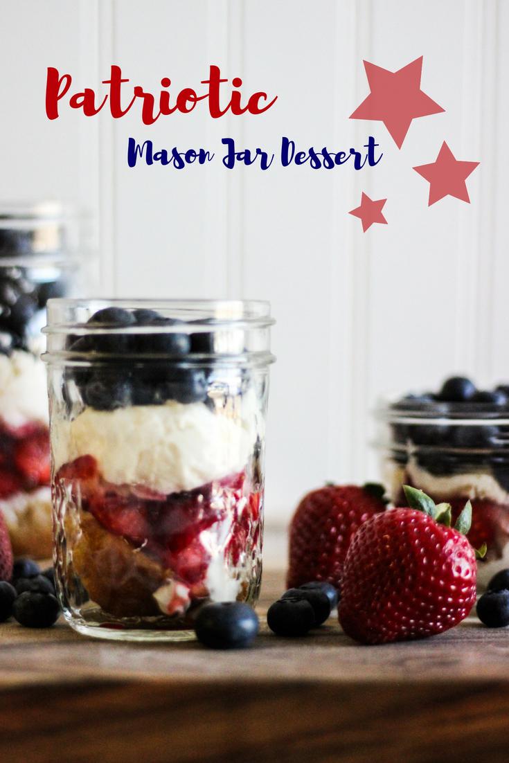Patriotic Mason Jar Dessert