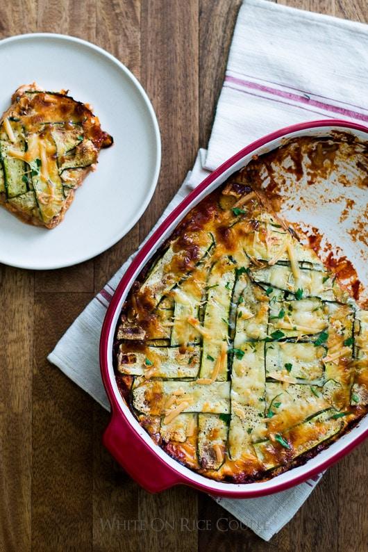 Three Cheese Zucchini Lasagna