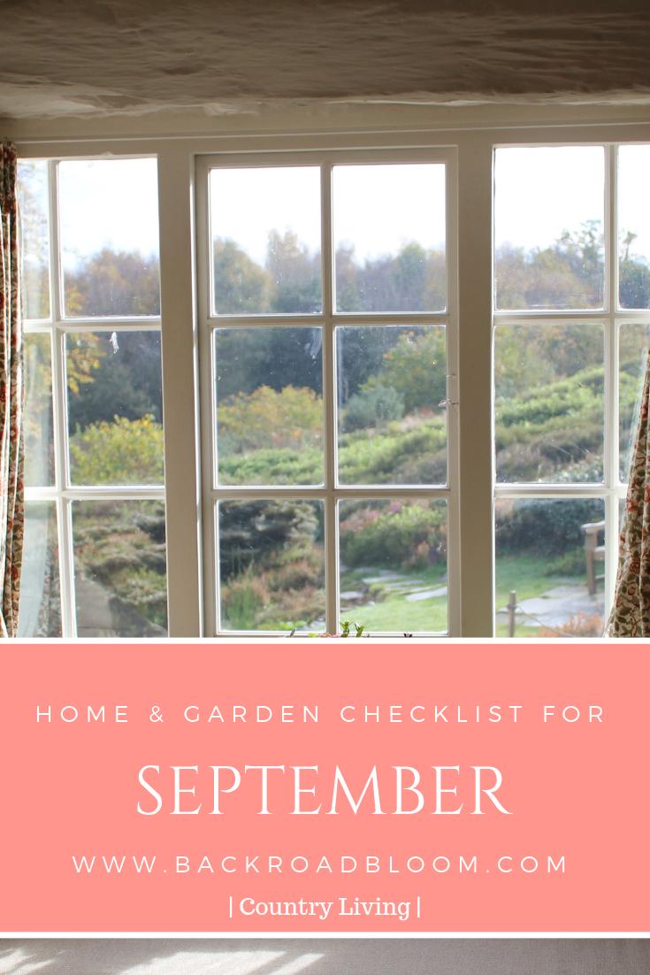 September Home & Garden Checklist