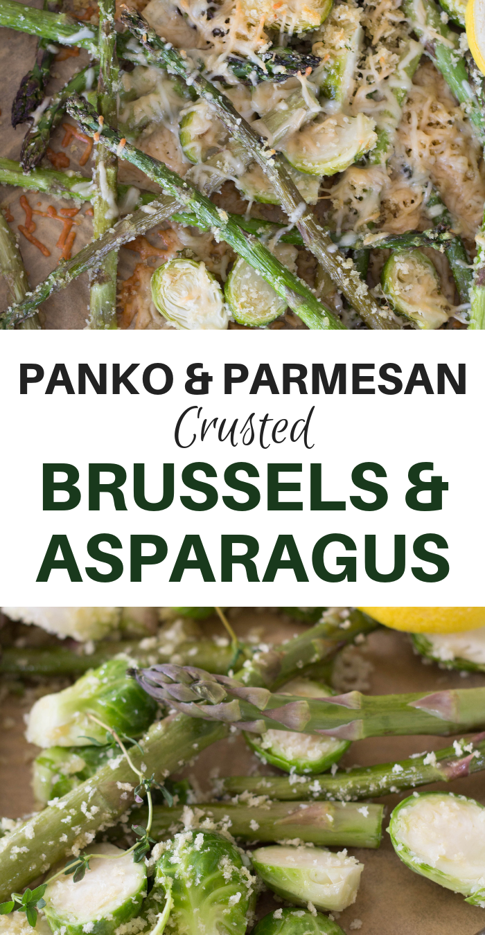 Panko & Parmesan Crusted Brussels & Asparagus