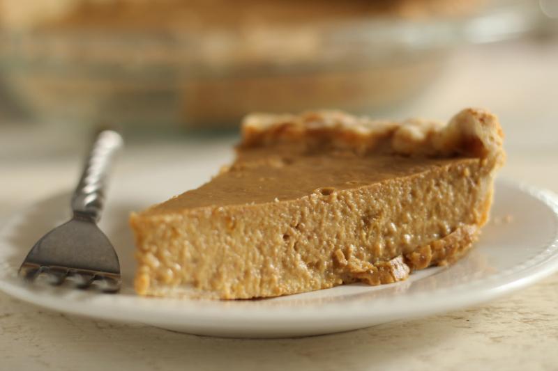 Honey Pumpkin Pie Recipe via The Prairie Homestead