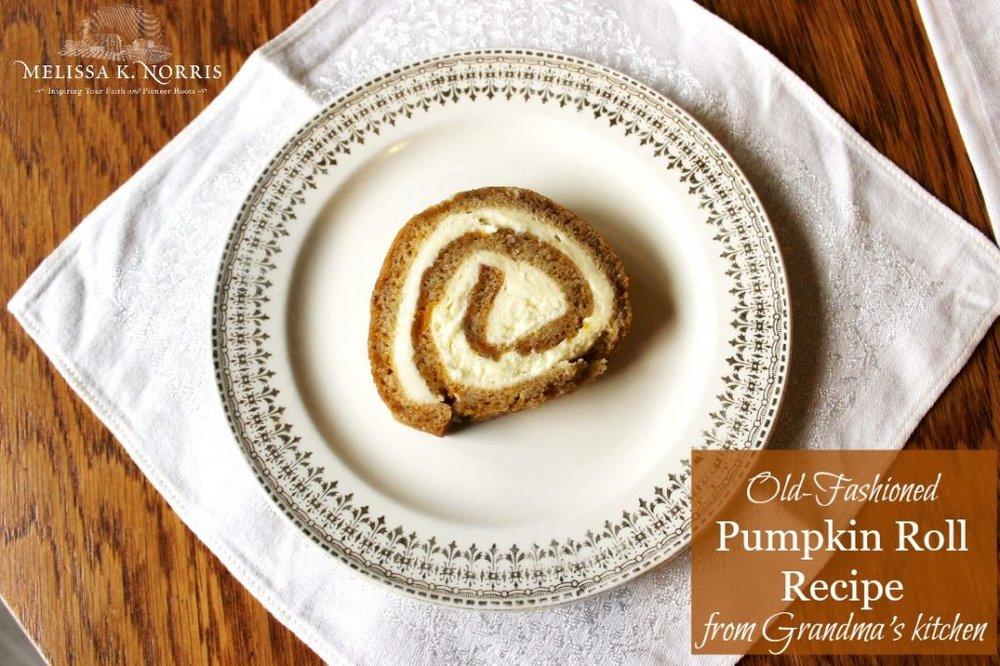 Grandma's From Scratch Pumpkin Roll Recipe via Melissa K Norris