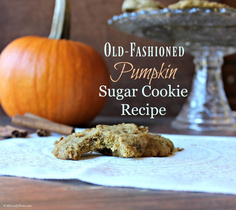 Old-Fashioned Pumpkin Sugar Cookies via Melissa K Norris