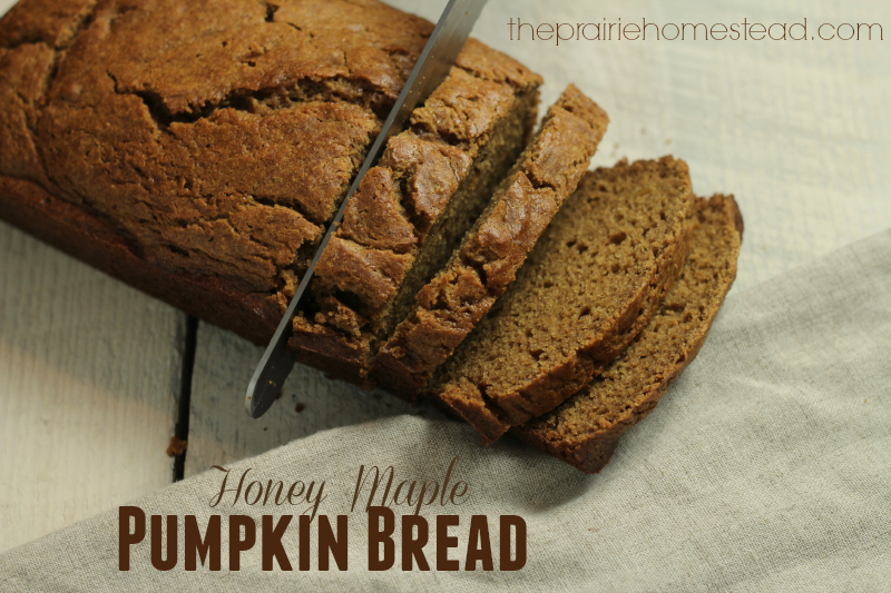 Honey Maple Pumpkin Bread via The Prairie Homestead