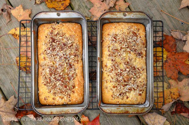 Pumpkin Cream Cheese Quick Bread via Simple Farmstead Cooking