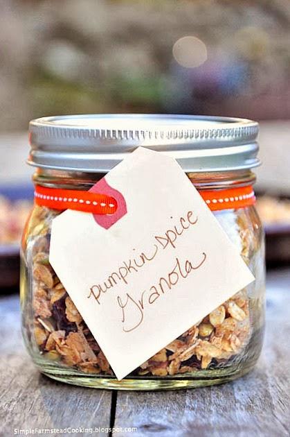 Pumpkin Spice Granola via Simple Farmstead Cooking