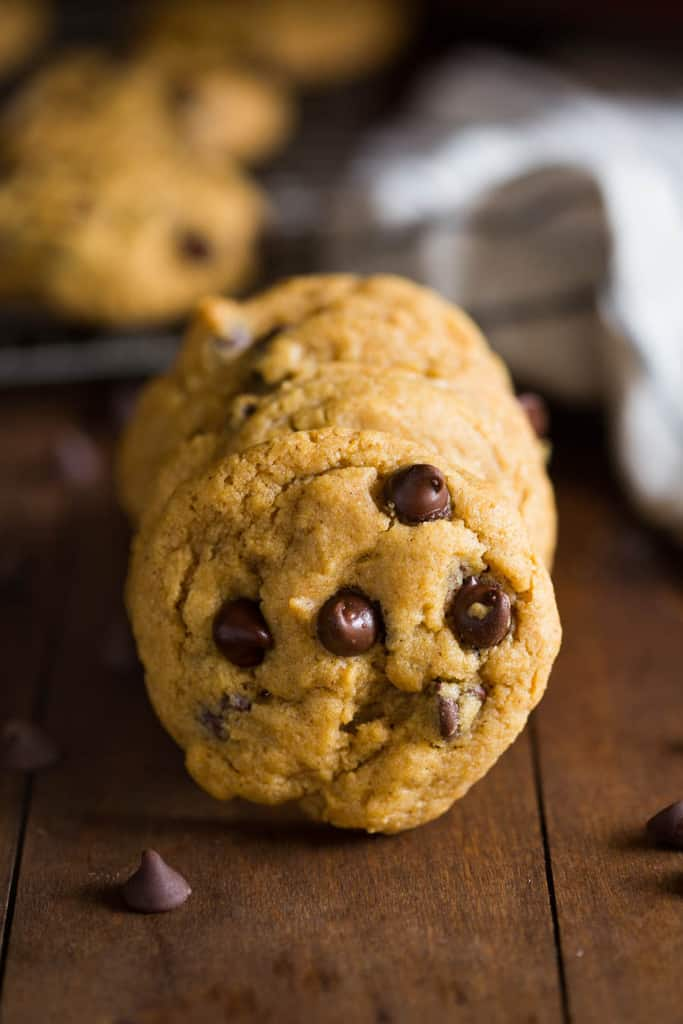 Chewy Pumpkin Chocolate Chip Cookies via Tastes Better From Scratch