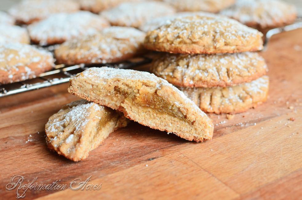 Whole Grain Pumpkin Filled Cookies via Reformation Acres