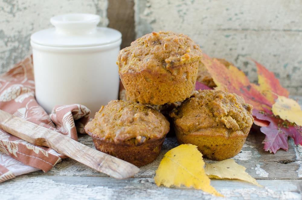 Pumpkin Nut Sourdough Muffins via Reformation Acres