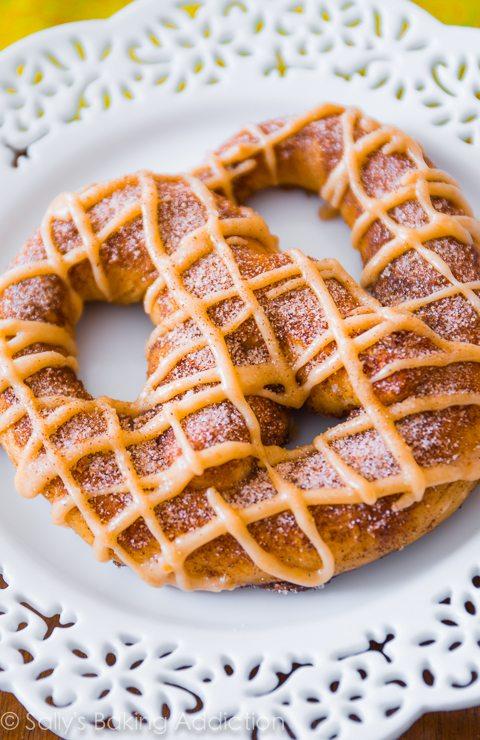 Pumpkin Praline Soft Pretzels via Sally's Baking Addiction