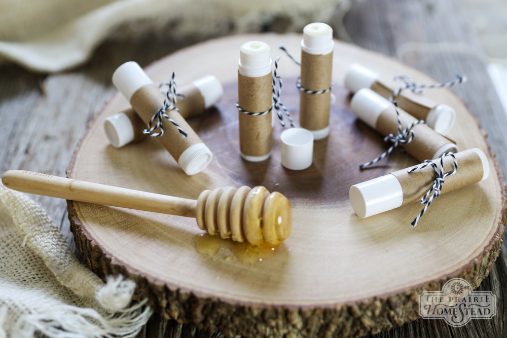 Honey Mint Lip Balm via The Prairie Homestead