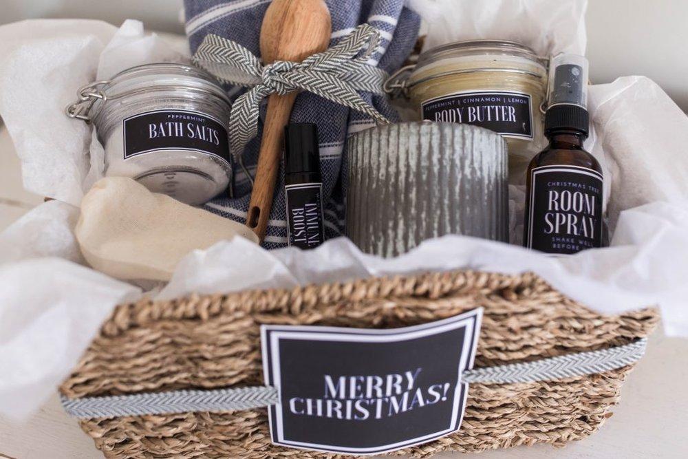 Handmade Christmas Gift Basket via Farmhouse on Boone