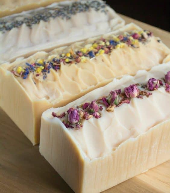 DIY Flower Infused Milk Soap via Reformation Acres