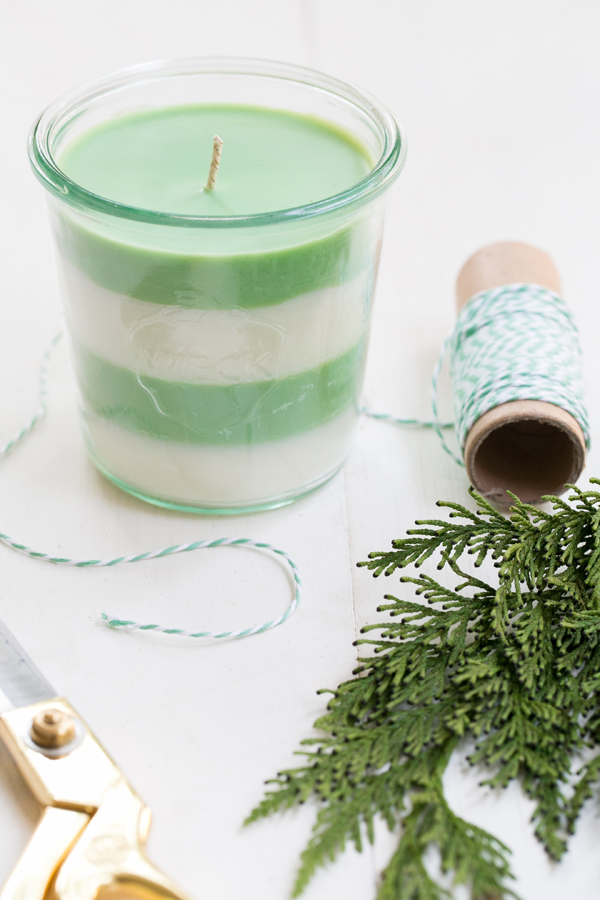 Pine Scented Soy Candles via Sugar & Charm