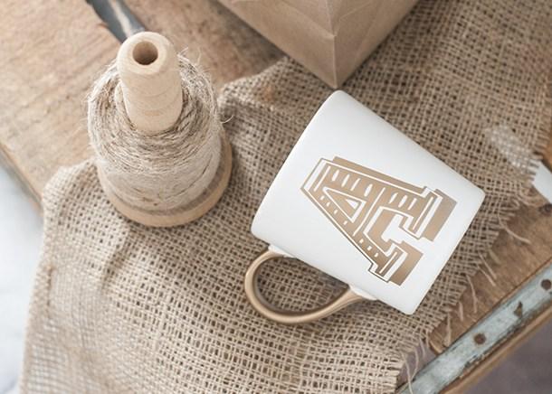 Monogrammed Mug via Earnest Home Co